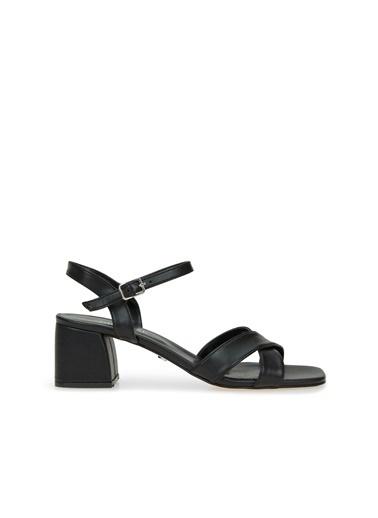 Divarese Divarese 5025371 Çapraz Bantlı Topuklu Kadın Sandalet Siyah